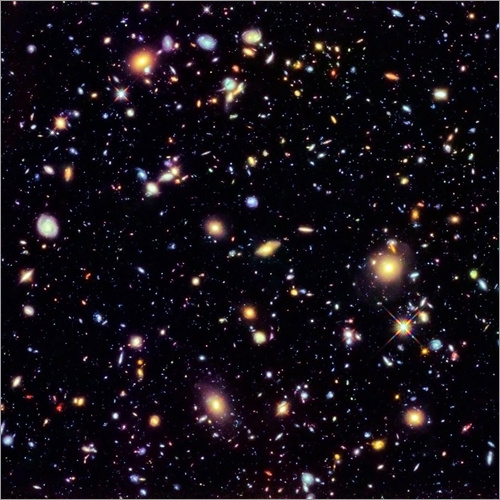 Wandsticker Hubble Extreme Deep Field