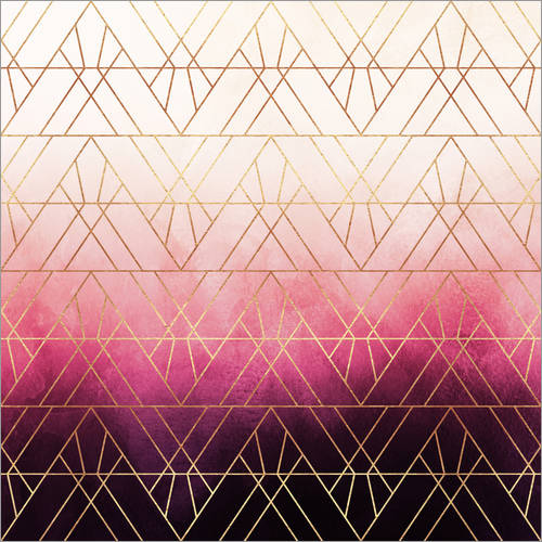 Wandsticker Pink Ombre Triangles