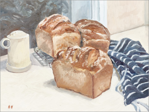 Premium-Poster Selbstgemachtes Brot