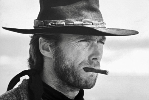 Premium-Poster Clint Eastwood in