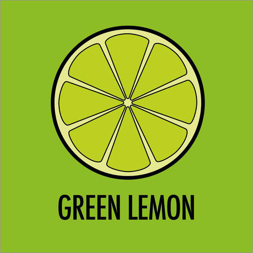 Wandsticker Green Lemon / Grüne Limone