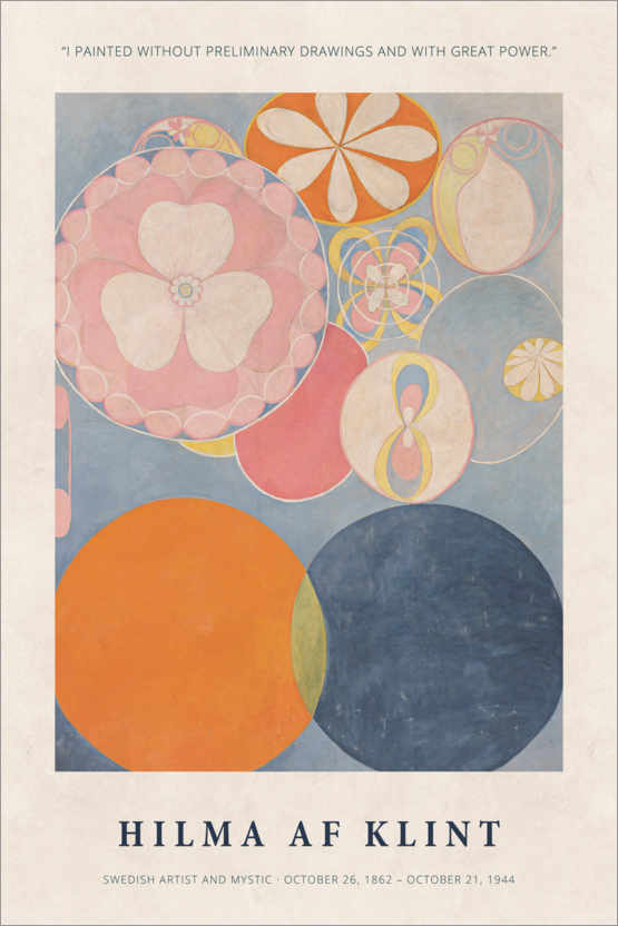 Premium-Poster Hilma af Klint - With great power