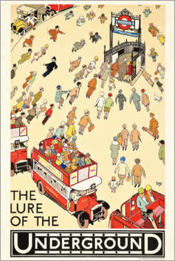 Acrylglasbild  The Lure of the Underground - Alfred Leete