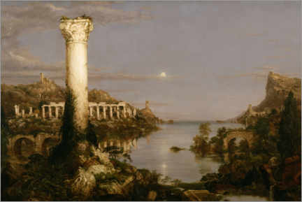 Acrylglasbild  Der Weg des Imperiums, Desolation - Thomas Cole