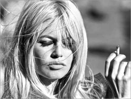 Leinwandbild  Brigitte Bardot ? Vom Winde verweht - Celebrity Collection