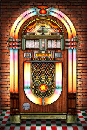 Gallery Print  Retro Juke Box - Michael Fishel