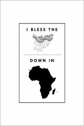 Holzbild  I bless the rains down in africa - Typobox