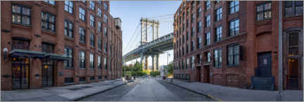 Acrylglasbild  Brooklyn-Ansicht der Manhattan Bridge - Jan Christopher Becke
