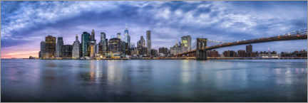 Acrylglasbild  Manhattan-Skyline am Abend - Jan Christopher Becke