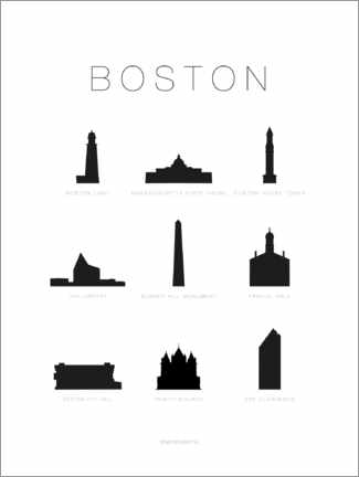 Wandsticker  Boston - Schumff