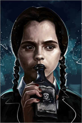 Leinwandbild  Wednesday Addams - Dmitry Belov