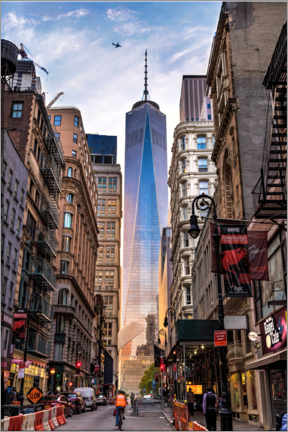 Holzbild  One World Trade Center in New York - Mike Centioli