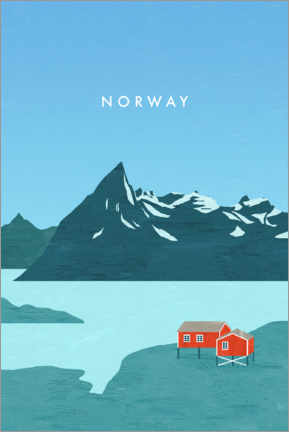 Leinwandbild  Norwegen Illustration - Katinka Reinke