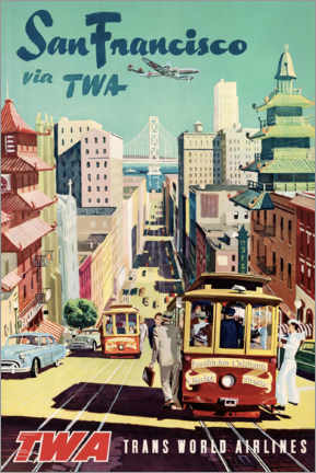 Leinwandbild  San Francisco via TWA - Travel Collection