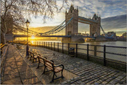 Acrylglasbild  Tower Bridge in London bei Sonnenaufgang - Dieter Meyrl