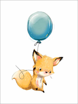 Premium-Poster  Kleiner Fuchs mit Ballon - Kidz Collection