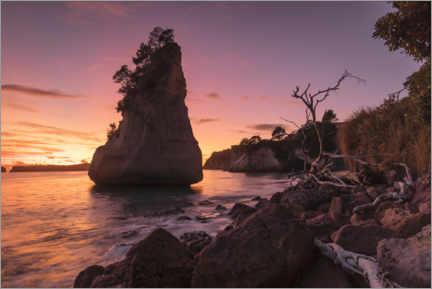 Premium-Poster Cathedral Cove bei Sonnenaufgang