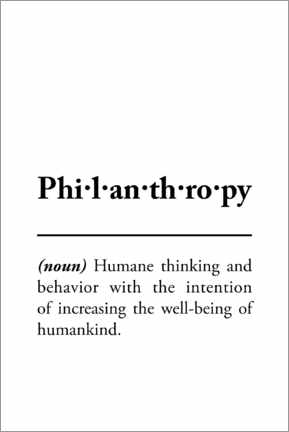 Wandsticker  Philanthropy - definition (english)
