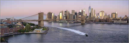 Acrylglasbild  Blick auf die Manhattan Skyline mit Brooklyn Bridge - Jan Christopher Becke