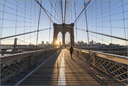 Acrylglasbild  Brooklyn Bridge bei Sonnenaufgang - Jan Christopher Becke