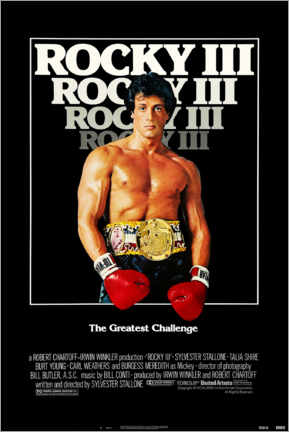 Acrylglasbild  Rocky III - Entertainment Collection