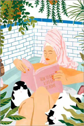 Premium-Poster How to have a spa day at home