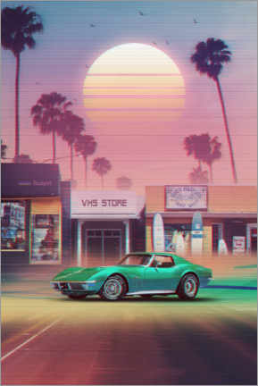 Premium-Poster  Synthwave Sunset Drive - Denny Busyet