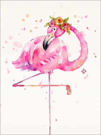 Acrylglasbild  Süßer Flamingo - Sillier Than Sally