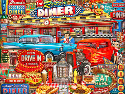 Premium-Poster  Retro Diner Crusin - Michael Fishel