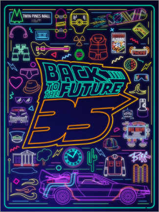Gallery Print  Back to the future - neon items