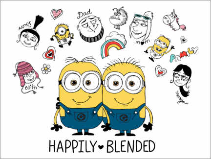 Wandsticker  Despicable Me 3 - Happily Blended