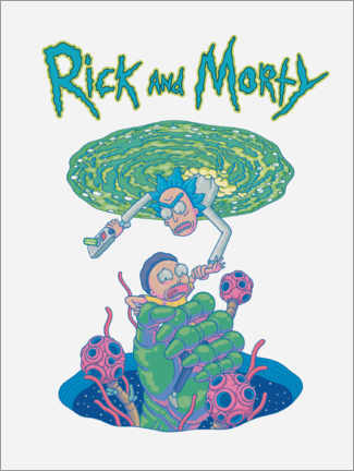 Gallery Print  Rick and Morty Portal