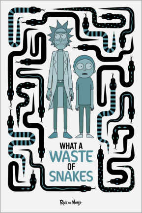 Gallery Print  Rick and Morty - Waste of Snakes