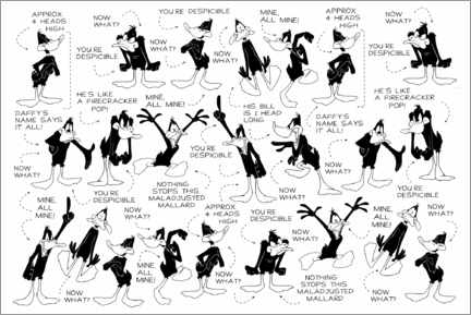 Holzbild  Daffy Duck - Expressions