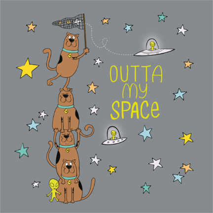Gallery Print  Scooby - Outta my space