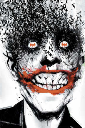 Premium-Poster  The Joker Crazy Face