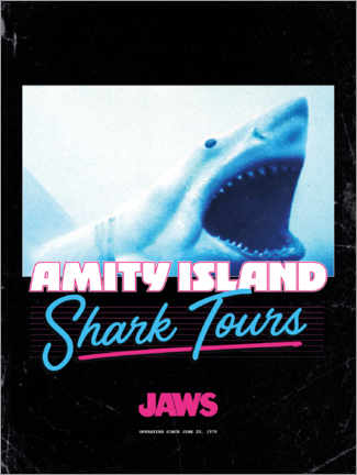 Wandsticker  Shark Tours, retro