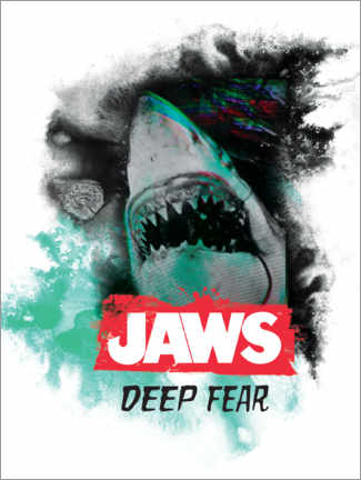 Acrylglasbild  Jaws - Deep Fear