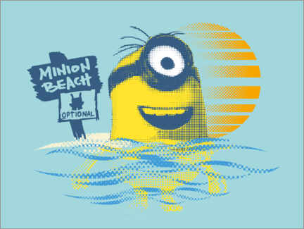 Leinwandbild  Minion Beach