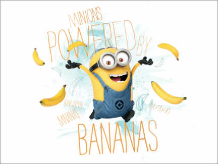 Acrylglasbild  Minions - Banana Power