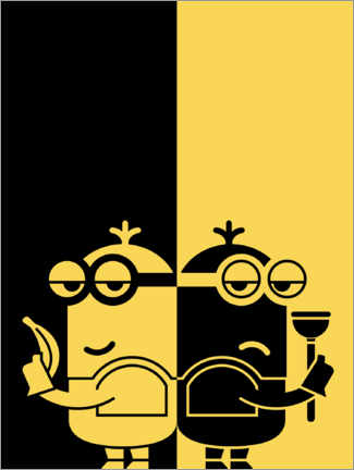 Premium-Poster  Black & Yellow
