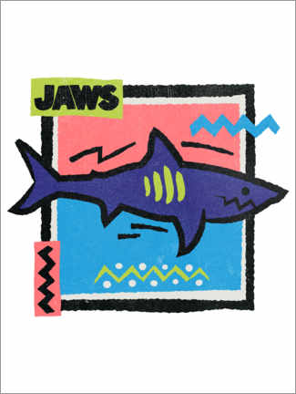 Hartschaumbild  Jaws Pop Art