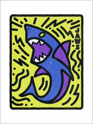 Premium-Poster  Jaws - Keith Haring Style