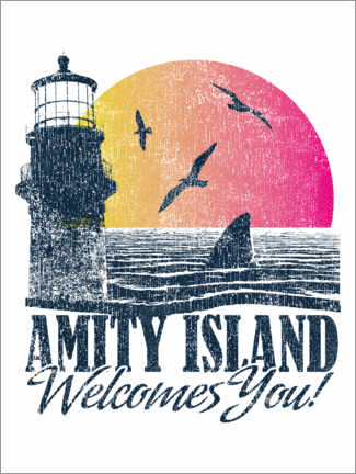 Premium-Poster  Amity Island Welcomes You