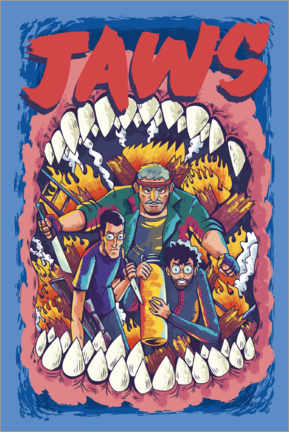 Premium-Poster  Jaws - Comic Team