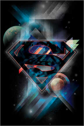 Premium-Poster  Superman Iconic Space Shield