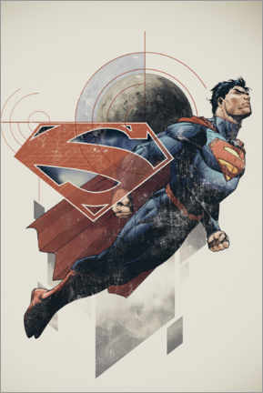 Premium-Poster  Superman Retro Comic