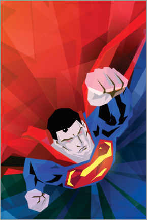 Alubild  Superman red and blue