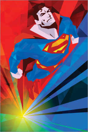 Premium-Poster  Polygon Superman