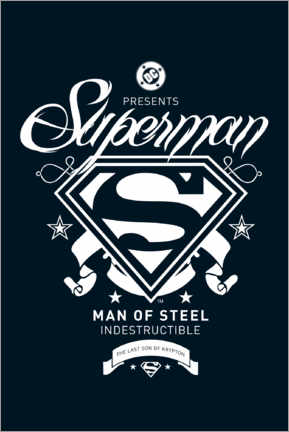 Premium-Poster  Superman, indestructible